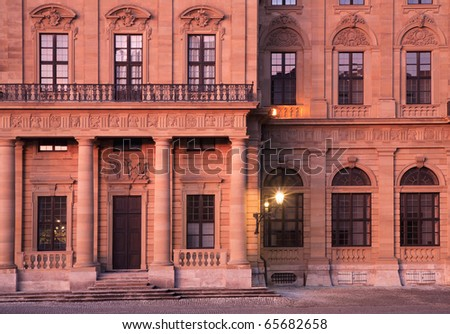 Facade of the Würzburg Residence - stock photo