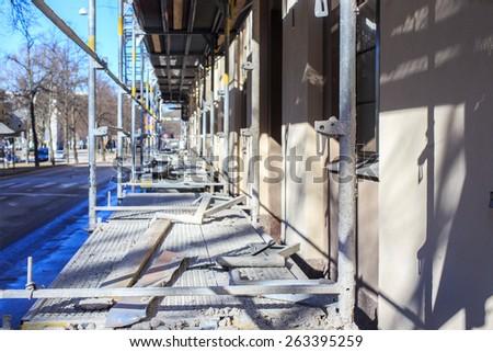 Facade renovation - stock photo