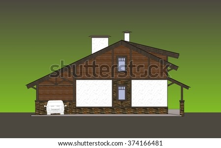 Facades cottage in a traditional classical style