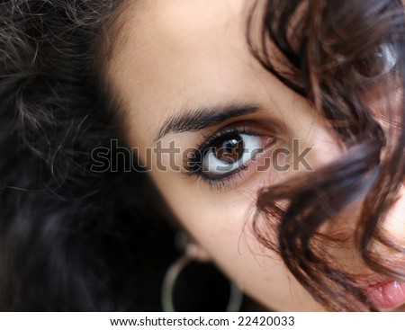 face abstract of a beautiful middle eastern girl