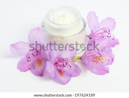 Face and body cream - stock photo