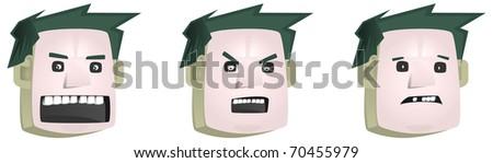 face boy - stock photo