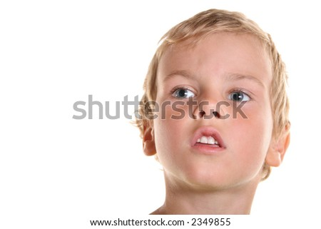 face boy child isolated