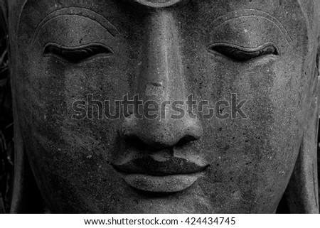 Face Buddha head - stock photo