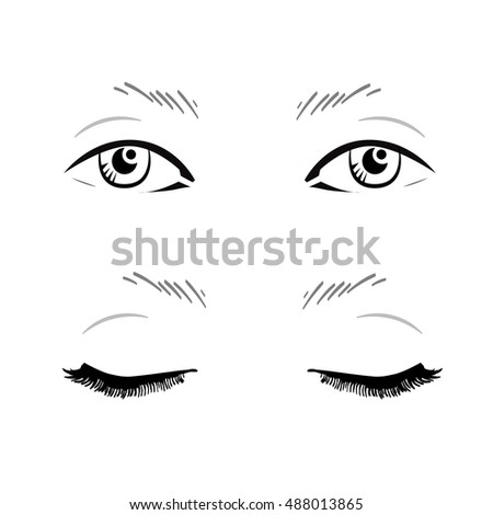 Eyelash Extension False Eyelashes Stock Vector 419546149