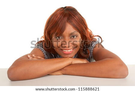 Face Close-up of a Beautiful African American Lady - stock photo