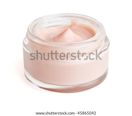 Face cream moisturizer on white . The file includes a clipping path so it is easy to work with. I hope you'll find this image useful,  so thank you for the support if you download it! - stock photo
