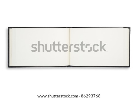 Face drawing notebook for background and text - stock photo
