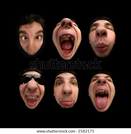 face  expressions - stock photo