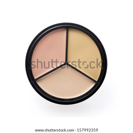 Face foundation isolated on white - stock photo