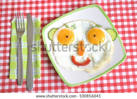 Face Frying Eggs - stock photo