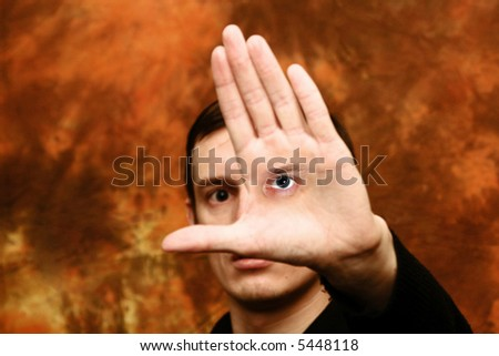 face human mystery looking eye fantasy luck - stock photo