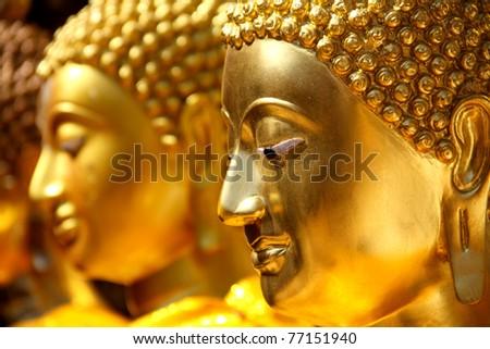face image of Buddha - stock photo