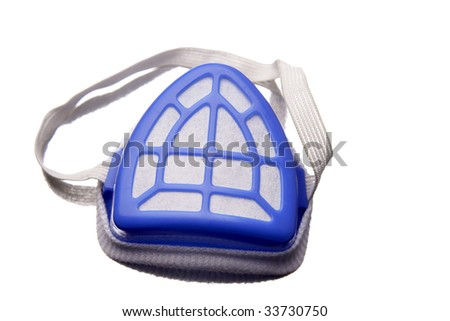 Face mask isolated over white - stock photo