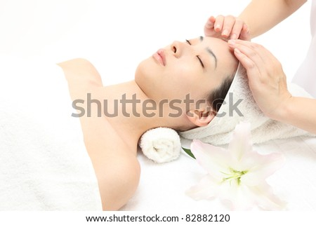 Face massage - stock photo