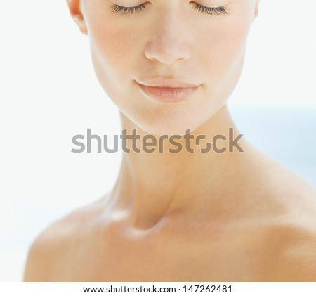 face of a beautiful girl - stock photo