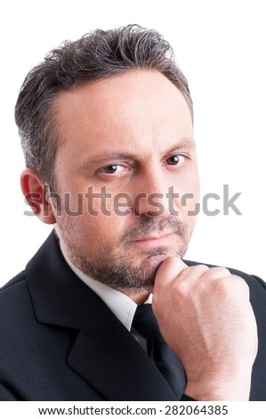 Face of a confident business manager or a successful entrepreneur - stock photo
