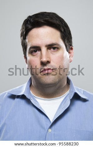 Face of a tired man - stock photo