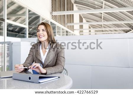 Face of beautiful business woman  - stock photo