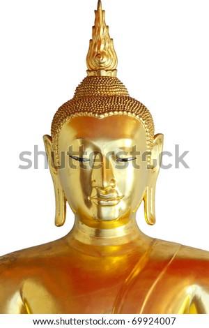 face of buddha - stock photo