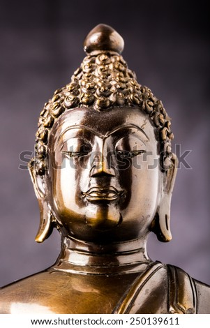face of buddha statue isolated ,statue in Buddhist Thailand  temple or wat,  are public  domain  or treasure of Buddhism ,no restrict in copy or use . This photo  taken   these  conditions