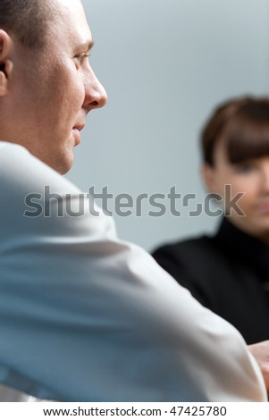 Face of men - stock photo