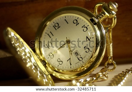 face of pocket watch