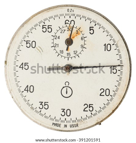 Face old stopwatch isolated - stock photo