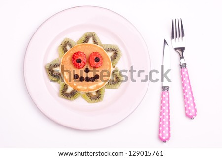 face on pancake