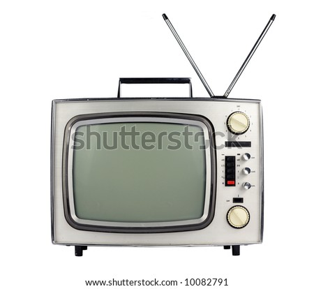 face on view of retro television