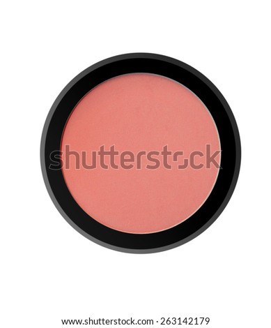 face powder blush isolated on white background - stock photo