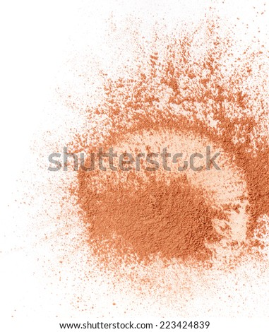 Face powder isolated on white background - stock photo