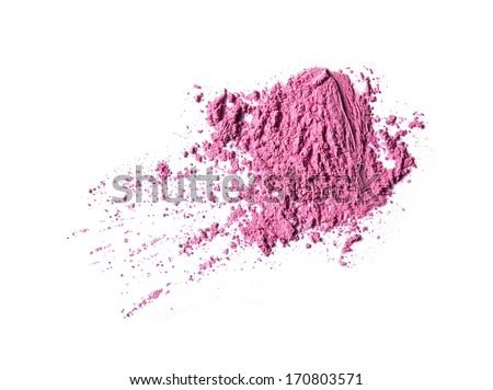 Face powder on white background