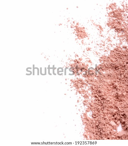 Face powder over white background - stock photo