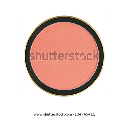 face rouge isolated on white background - stock photo