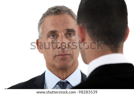 Face to face - stock photo