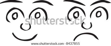 Faces illustration - stock photo