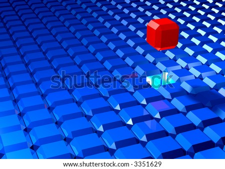 Faceted blocks - stock photo