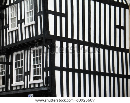 Fachwerk construction house in England, Stratford-upon-Avon - stock photo