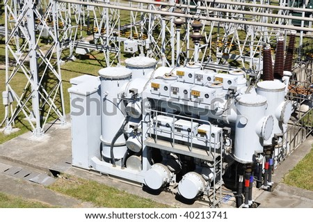 facilities for electric power - stock photo