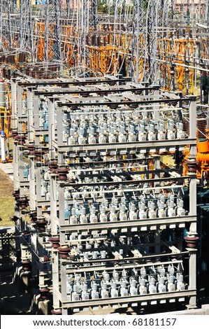 facilities of electric power - stock photo