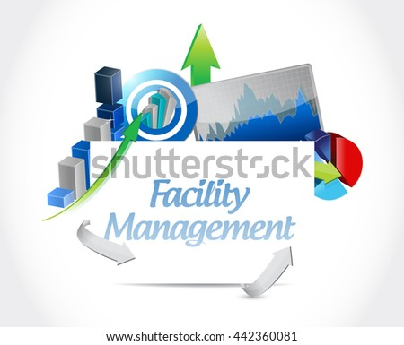 facility management business graph sign illustration design graphic