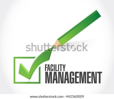facility management check dart sign illustration design graphic - stock photo