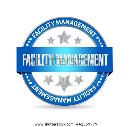 facility management seal sign illustration design graphic