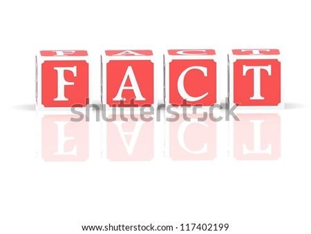 Fact - stock photo