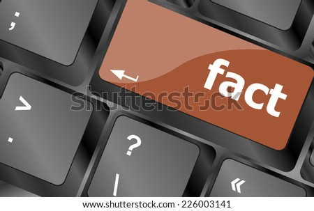 fact button on keyboard - business concept, raster - stock photo