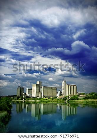 factory - stock photo