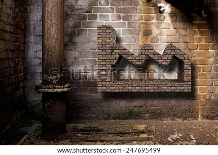 factory and brick - stock photo