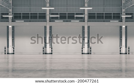 Factory background (black and white color). - stock photo