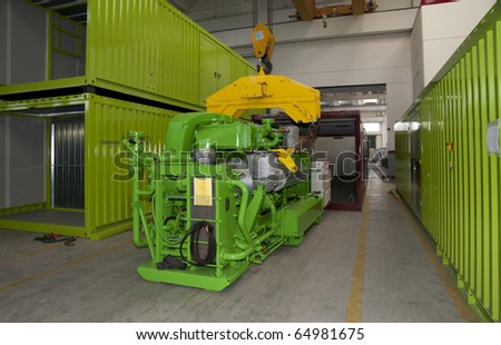 Factory: biogas energetic valorization - stock photo